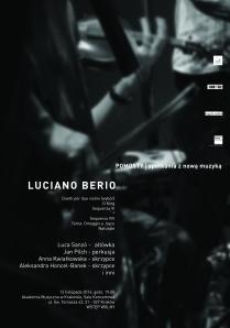 koncert Berio plakat